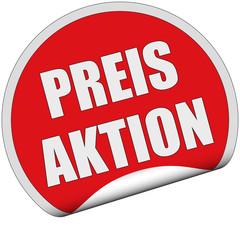 Sticker rot rund cu PREIS AKTION