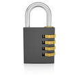 Metal combination lock