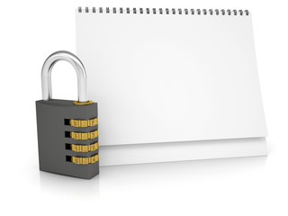 Combination lock and desk calendar