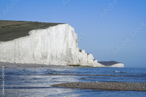 seven sisters chalk cliffs beach
