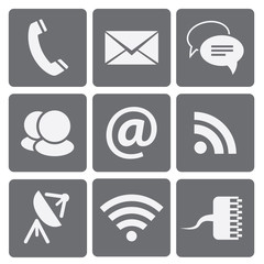 Set of modern communication signs and icons