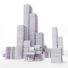 Stacks of euros