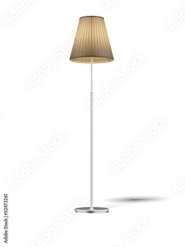 Floor Lamp isolated on white