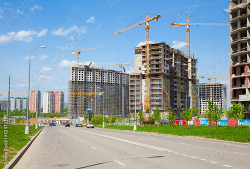 Construction of the new district
