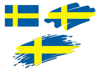 Brush Flags Sweden