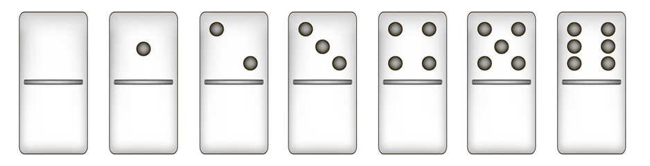 WEB 2.0 buttons domino set. EPS10 vector