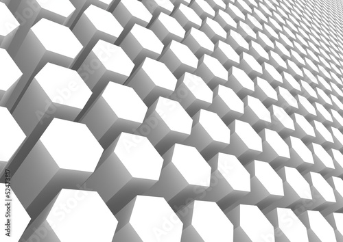 White hexagon pattern