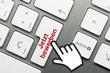 Jetzt bewerben Tastatur Hand