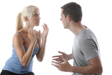 Model Released. Young Couple Arguing