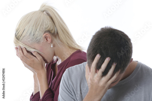 Model Released. Young Couple Upset