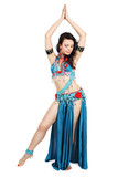 Fototapety dancer in a turquoise dress