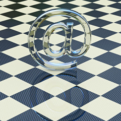 Glass at symbol - 3D Rendering