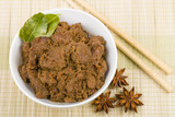 Rendang Daging - Dried beef curry with coconut milk and spices.