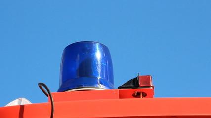 Flashing Light blue. flasher