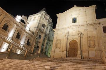 The Church of San Francesco, Noto in Sicily, Italy.