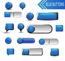 Blue Buttons Collection