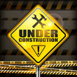 Under construction sign rhombus