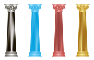 old-style greece columns. eps10 vector illustration