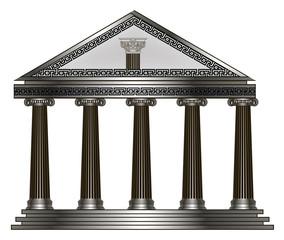 greek temple. eps10 vector illustration