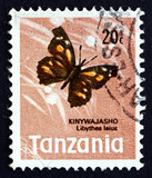 Postage stamp Tanzania 1973 African Snout Butterfly poster