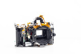 disassembled photo camera