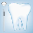 dental tools and tooth design elements. vector mesh illustration