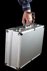 Briefcase handcuffed to businessman's wrist
