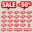 "Icon Set ""Sale Minus"" Red"