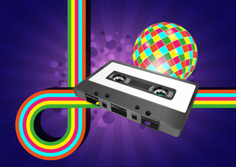 audiocassette graphic