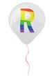 Gay flag alphabet - R