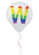 Gay flag alphabet - W