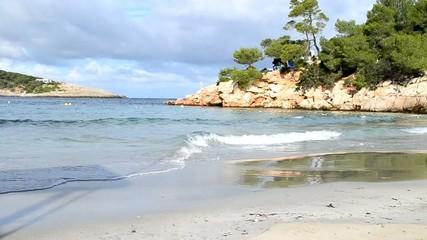 Playa de Portinatx en Ibiza, España