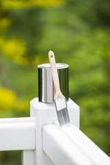 Painting Tools for Outdoor White Deck Railing