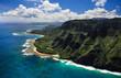 Leinwanddruck Bild - Aerial View of Kauai Coast