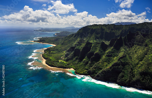 Foto op Canvas Eiland Aerial View of Kauai Coast