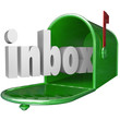Inbox Word Green Mailbox Incoming Message Email