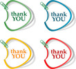 Thank you - grateful bubbles, stickers set