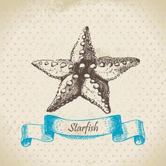 Starfish. Hand drawn illustration.