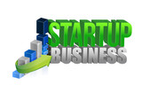 startup business graph sign poster