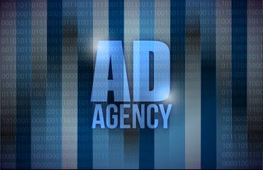 ad agency binary background design