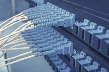 fiber cable serve with technology style against fiber optic back