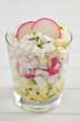 Radieschen Salat im Glas