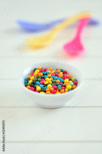 Bunte Zuckerstreusel