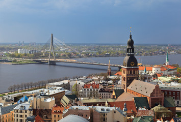 Aerial view of Riga, Latvia