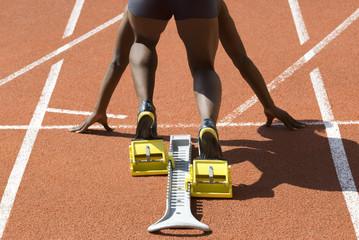 black sprinter start
