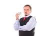 Polskie 100 złotych pożyczka w dłoni bankiera