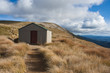 mountain hut on Mt Robert in Nelson Lakes
