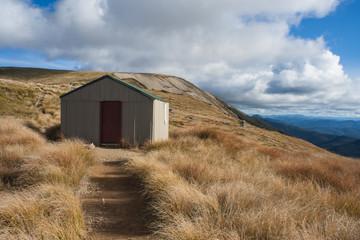 mountain hut on Mt Robert in Nelson Lakes