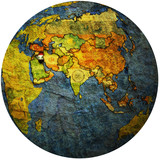 iraq on globe map