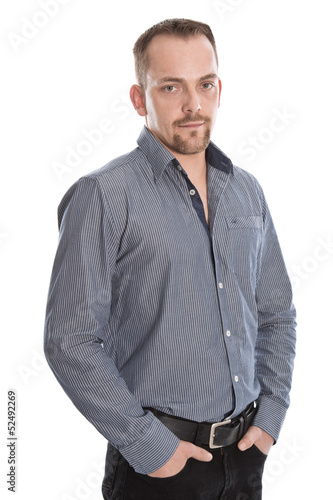 Portrait junger Mann isoliert